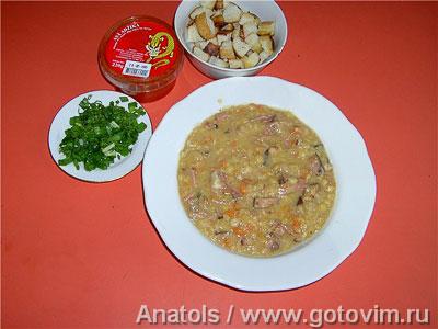 Фотография рецепта Суп гороховый с копчёностями