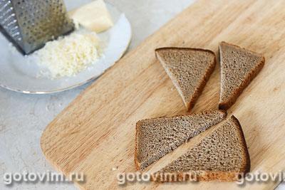 Гороховый суп с копчеными ребрышками и сырными гренками, Шаг 04