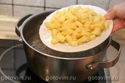 Суп из говядины с картофелем и чипетками, Шаг 04