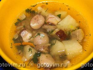 Суп гречневый с маслятами и белыми грибами