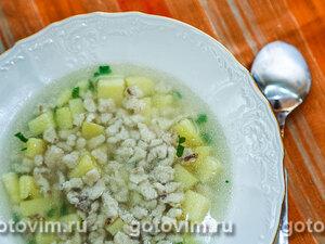 Суп с грибными клецками (нокедли)