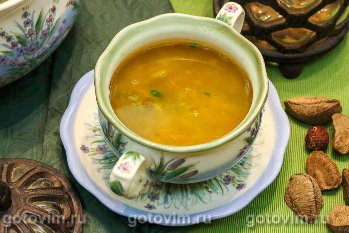 Суп из говядины с грибами и мучной «подбойкой». Фотография рецепта