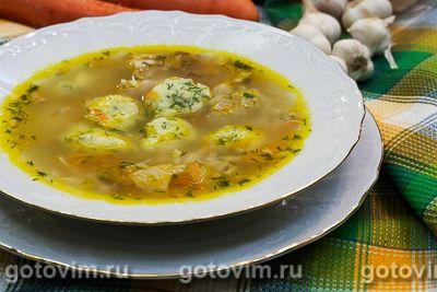 Куриный суп с картофельными фрикадельками
