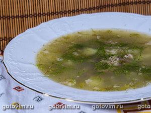 Картофельный суп с зеленью