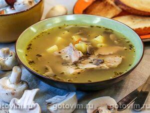 Суп из кролика и грибами