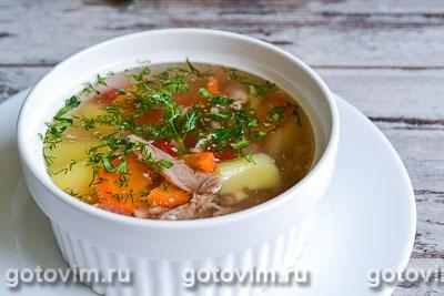 Суп с кроликом и овощами. Фотография рецепта