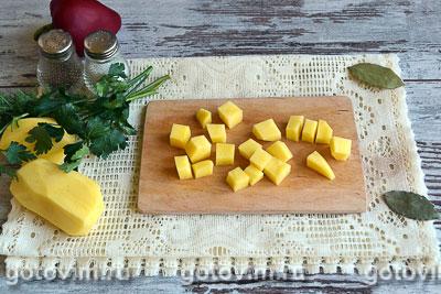 Суп с кроликом и овощами, Шаг 02