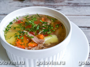 Суп с кроликом и овощами