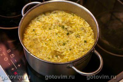 Куриный суп с мучной «подбойкой» (или жидким тестом), Шаг 09