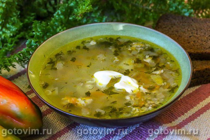 Куриный суп с мучной «подбойкой» (или жидким тестом). Фотография рецепта