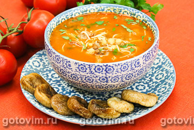 Харира (Harira) - марокканский мясной суп . Фотография рецепта