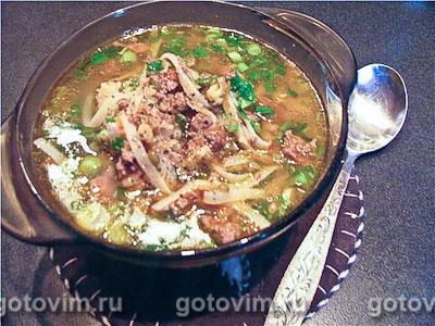 суп с овощами и домашней лапшой рецепт