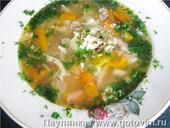 Суп с обжаренным пшеном