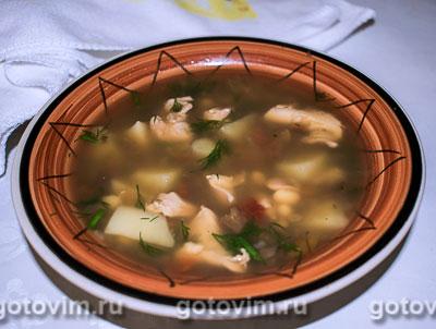 Мексиканский суп «Семь бобов». Фотография рецепта