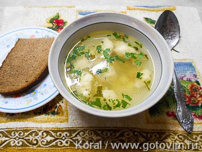 Куриный суп с клецками. Фотография рецепта