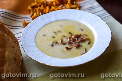 Фотография рецепта Сливочный суп велюте с лисичками