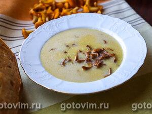 Сливочный суп велюте с лисичками