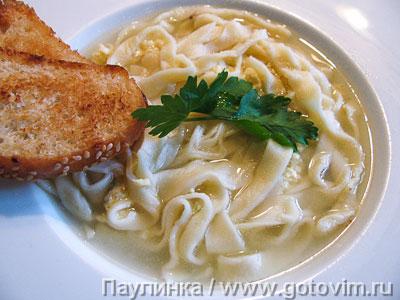 Суп страччателла по-римски с пастой тальолини. Фотография рецепта