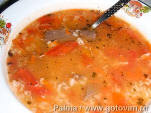 Суп томатный с сердцем