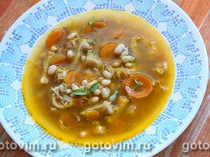 Густой суп из рубца с белой фасолью (Zuppa di fagioli e trippa)