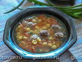 Турецкий суп с фрикадельками и нутом