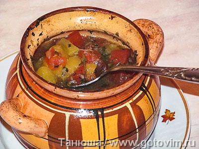 Фотография рецепта Тыквенный суп в горшочках