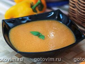 Суп из нута с запеченными овощами