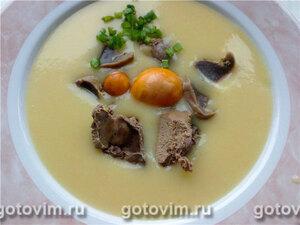 Картофельный суп-пюре с потрошками