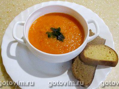 Суп-пюре из тыквы с томатами