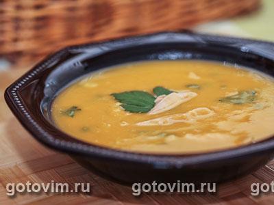 Тыквенный суп-пюре с курицей. Фото-рецепт