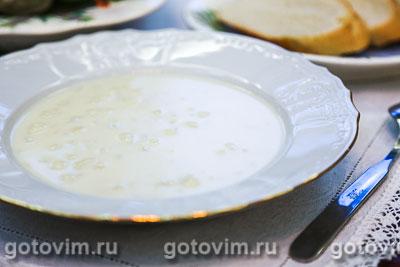 Суп-пюре из цветной капусты (велуте или  суп дюбарри). Фотография рецепта