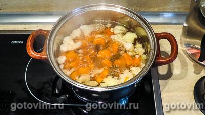Суп-пюре с томатом и морковью на сливках, Шаг 03
