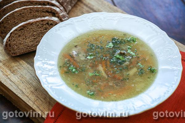 Суп из утки с красной чечевицей. Фотография рецепта