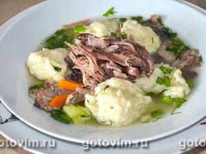 Суп из утки с клёцками