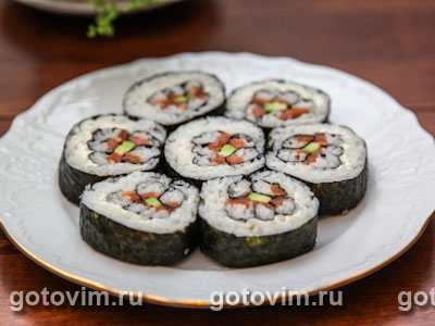 Суши-цветок