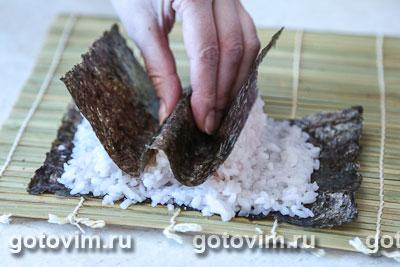 Фотографии рецепта Cуши «Ягодки», Шаг 03