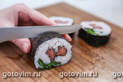 Фотографии рецепта Cуши «Ягодки», Шаг 07
