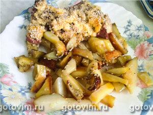 Свинина, запеченная с картофелем и кунжутом