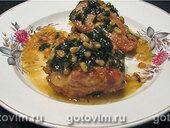 Свинина с петрушкой, лимоном и кедровыми орешками