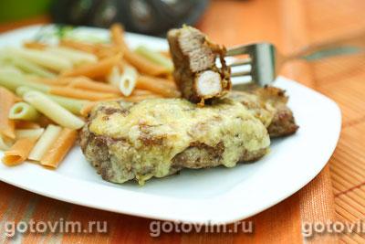 Фотография рецепта Свинина с луком и сыром