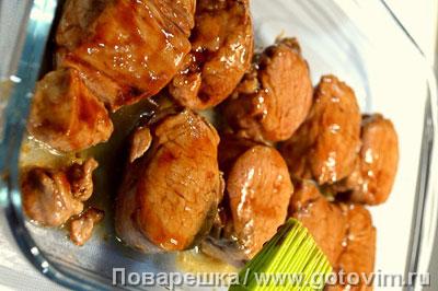 Свиная вырезка в соусе терияки с пряными овощами, Шаг 06