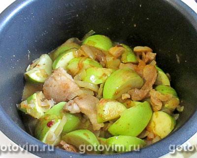 Свинина с яблочной подливкой в мультиварке, Шаг 05