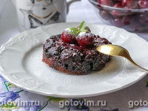 Шварцвальдский пирог-перевертыш с вишней