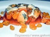 Сыр с голубой плесенью в желе из портвейна