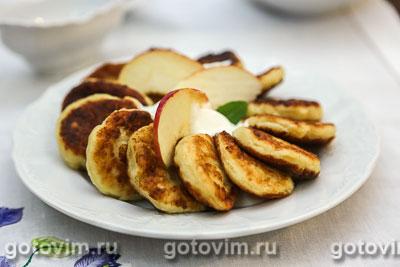 Фотография рецепта Сырники с яблоками
