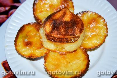 Фотография рецепта Сырники в силиконовых формочках