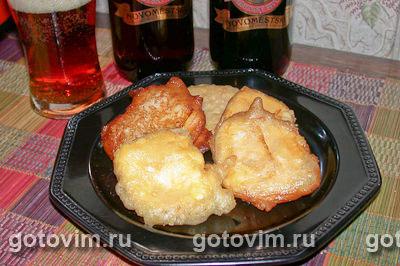 Сыр, жаренный во фритюре. Фото-рецепт