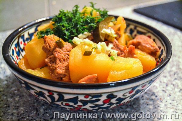 Татарское азу из баранины. Фотография рецепта