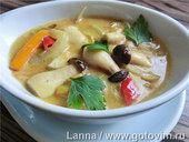 Тайский суп с грибами и кокосовым молоком
