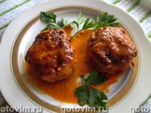 Тефтели из утки с манной крупой в томатном соусе с пряностями